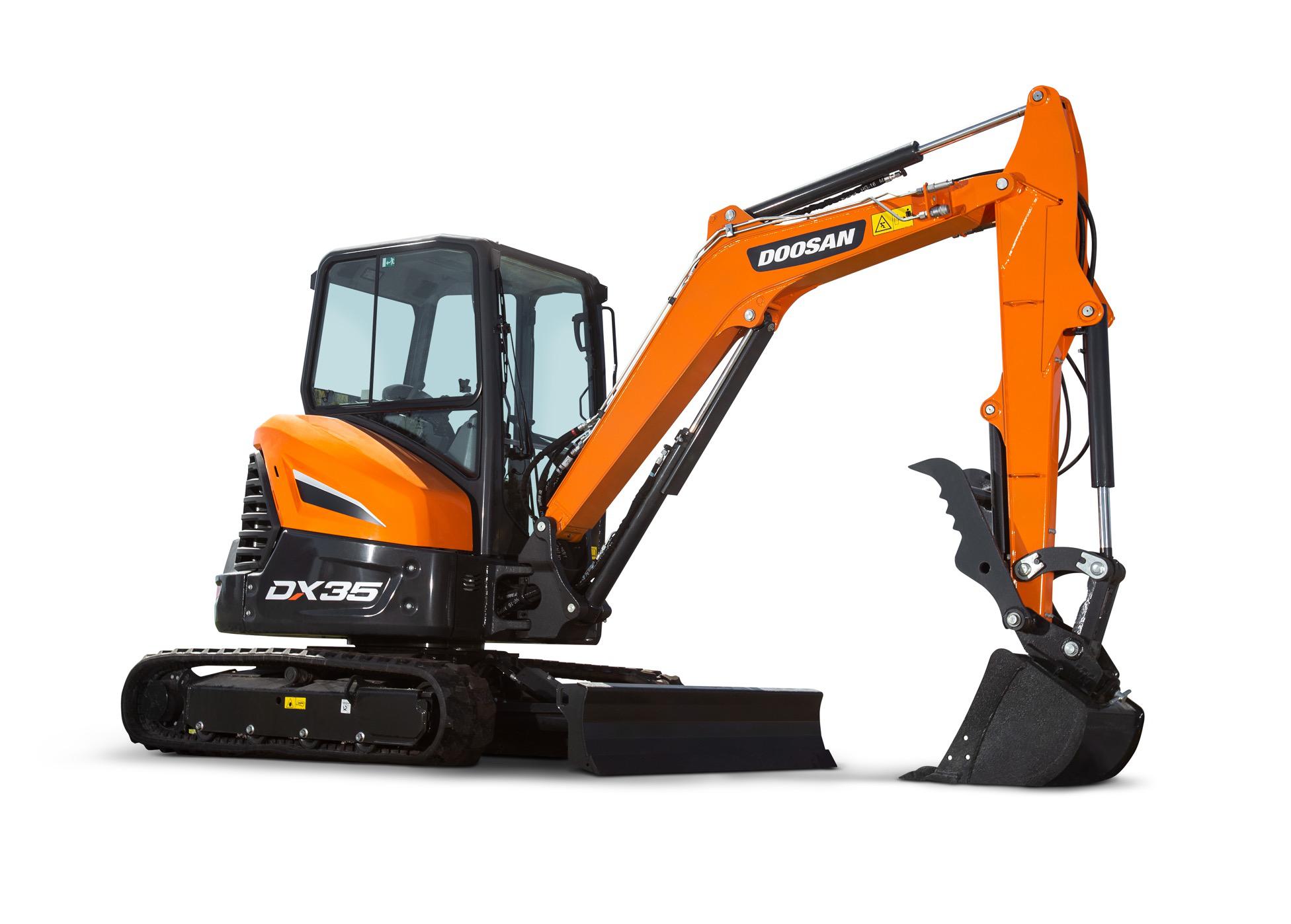 New mini excavators from Doosan