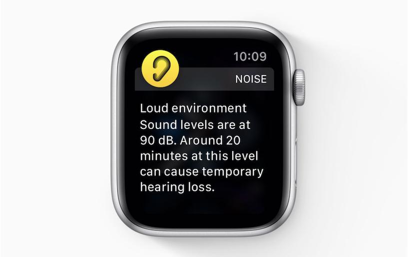 apple watch noise warning