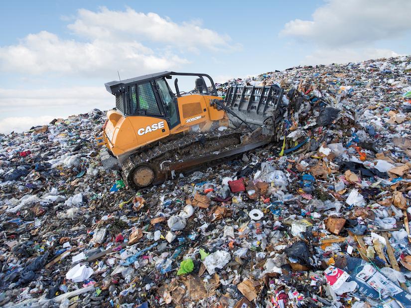 Case 2050M landfill dozer