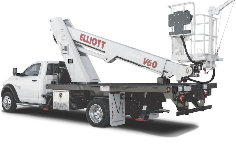 Elliott V60 material handling aerial charlotte nc dump truck company platform