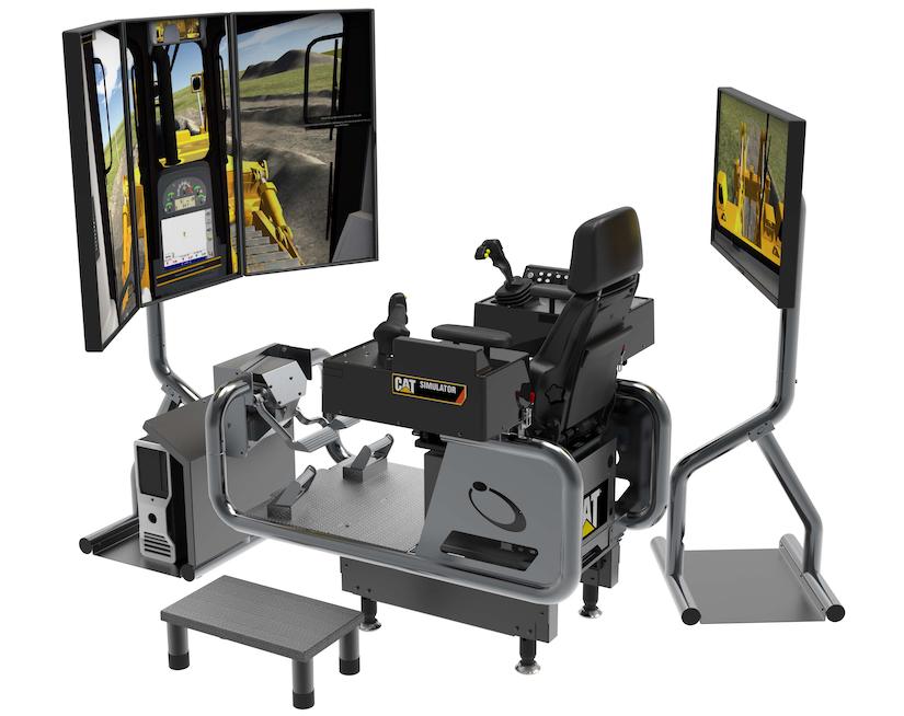 Cat simulator delivers VR dozer training for highway construction