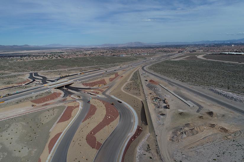 Diverging diamond interchange on U.S. 95 freeway