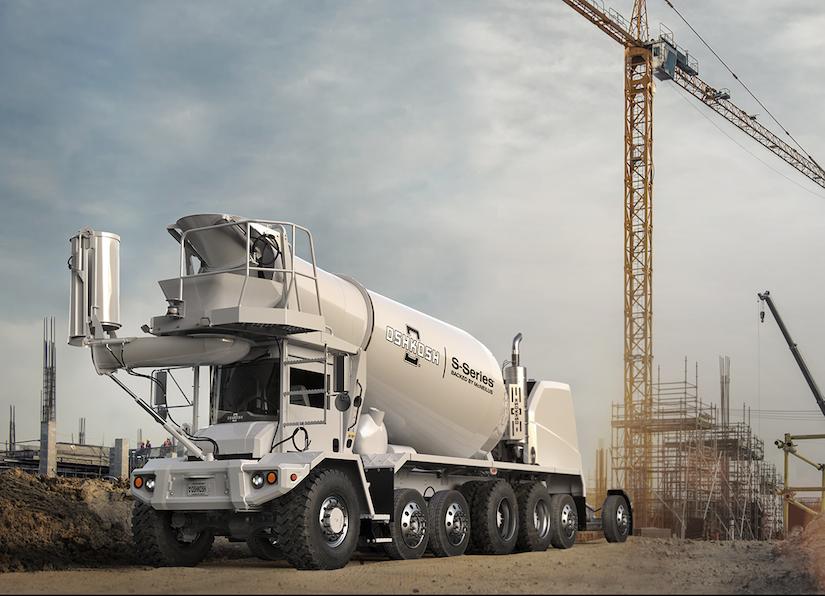 Oshkosh S-Series front discharge concrete mixer truck