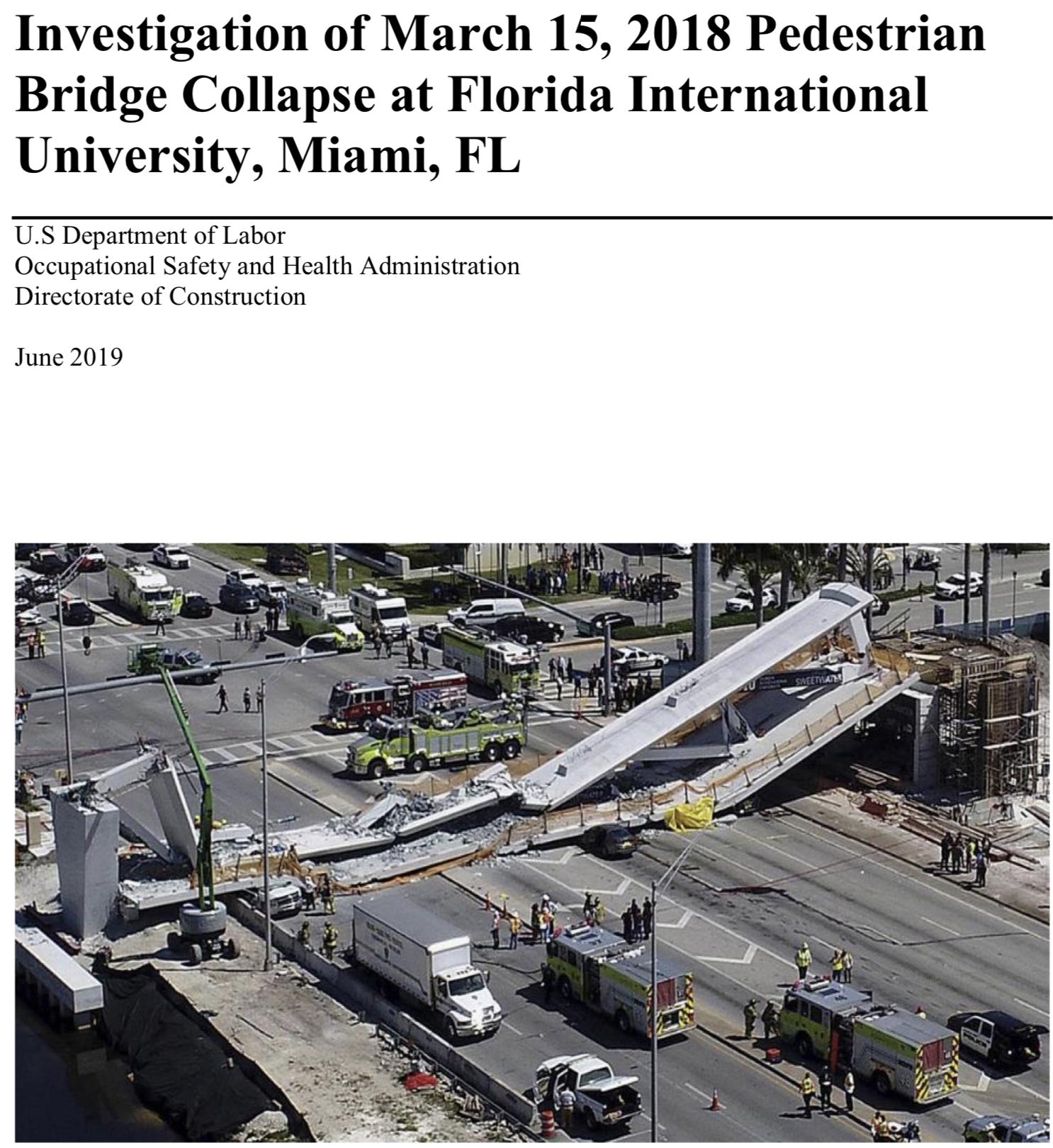 OSHA says faulty engineering caused FIU bridge collapse