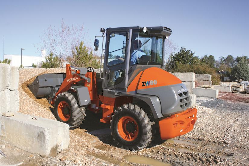 Hitachi ZW80 compact wheel loader