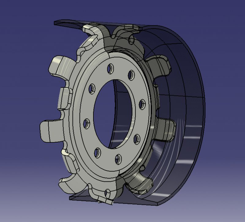 rendering image of the michelin airless tire