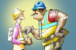 How a new construction worker can stay on the good side of older workers graphic