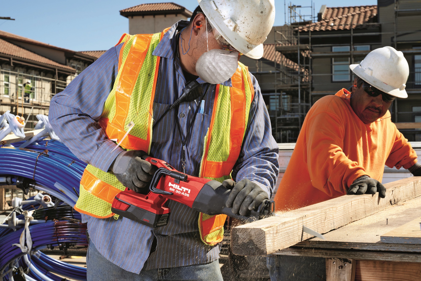 Hilti cordless SR 30-A36 reciprocating saw in use