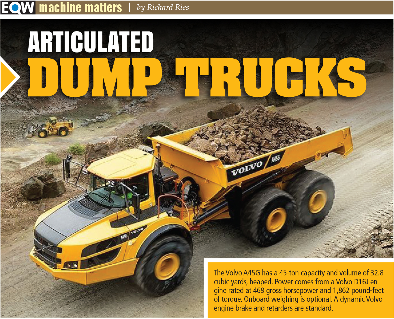 In high demand popular articulated dump truck models seeing steady