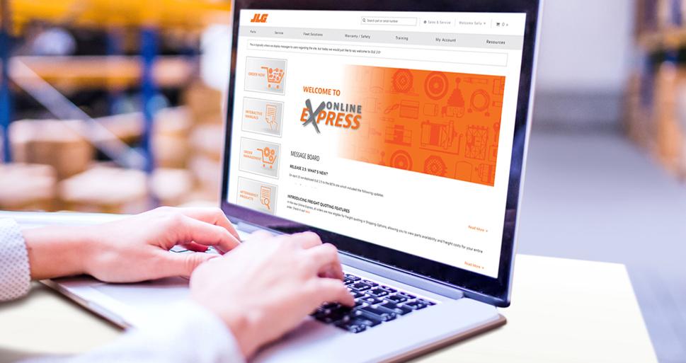 JLG Online Express Homepage