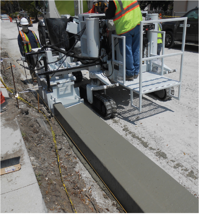 Stringline or stringless? Manufacturers of curb and gutter pavers