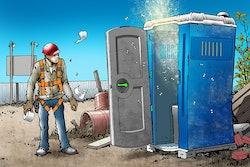Porta Potty Construction Site Graphic