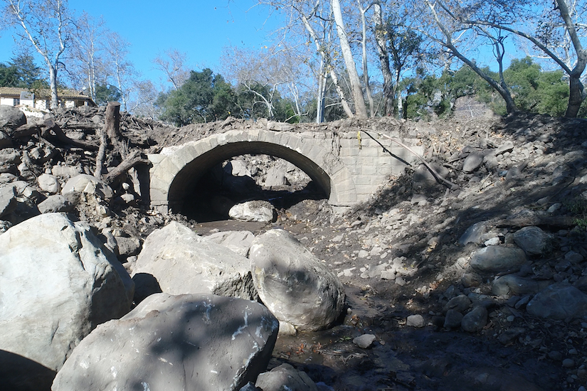 Construction begins on replacement for Calif. bridge damaged by debris flow