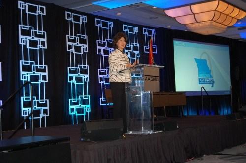 Elaine Chao at AASHTO meeting