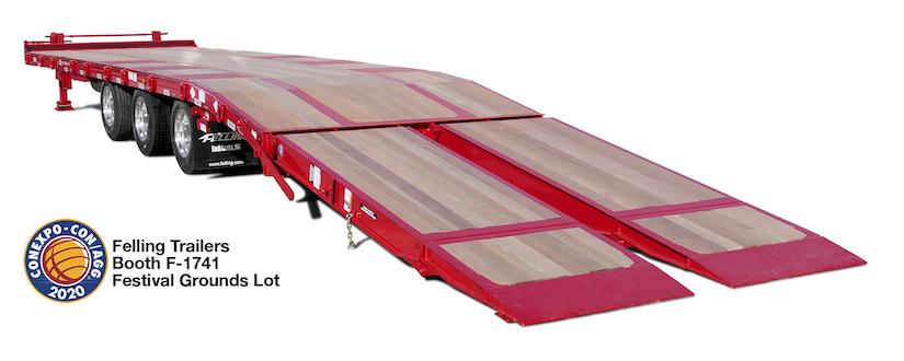 Felling Air Bi-Fold Ramps FT-50-3 trailer