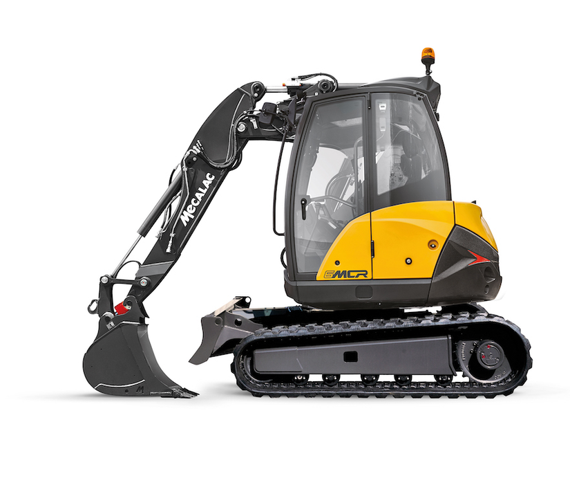 Mecalac 6MCR crawler skid excavator