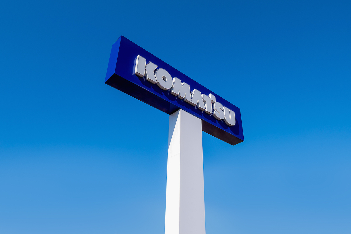 Komatsu sign dealer rebranding