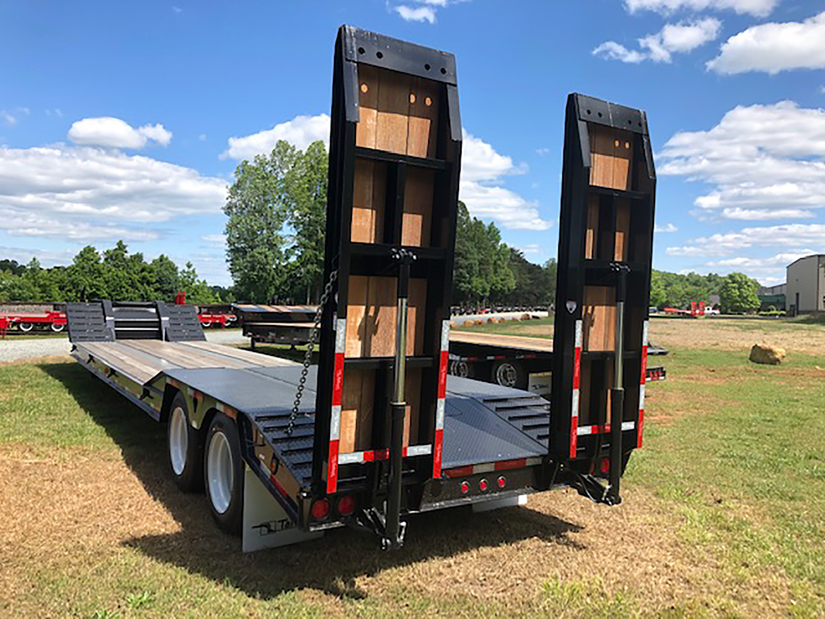 talbert fixed neck trailer with 36-inch beavertail with a 15-degree load angle