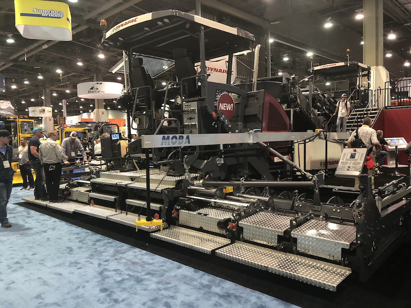Dynapac SD2500CS paver with high-compaction screed at conexpo