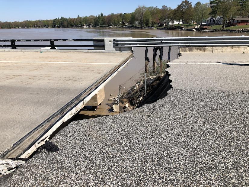 Michigan flooding I-10 bridges