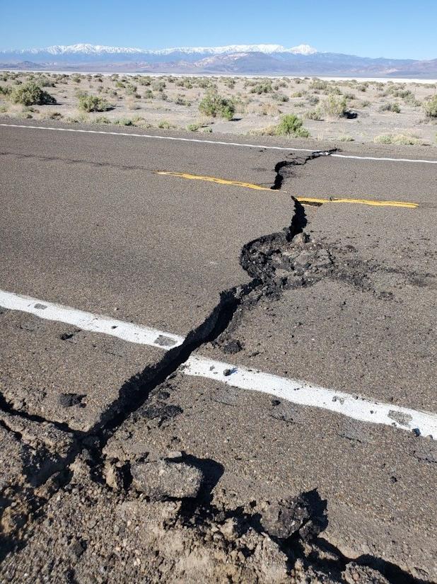 Nevada earthquake damages U.S. Highway 95