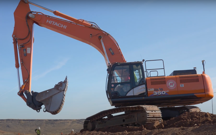 Hitachi Topcon excavator Grade Control