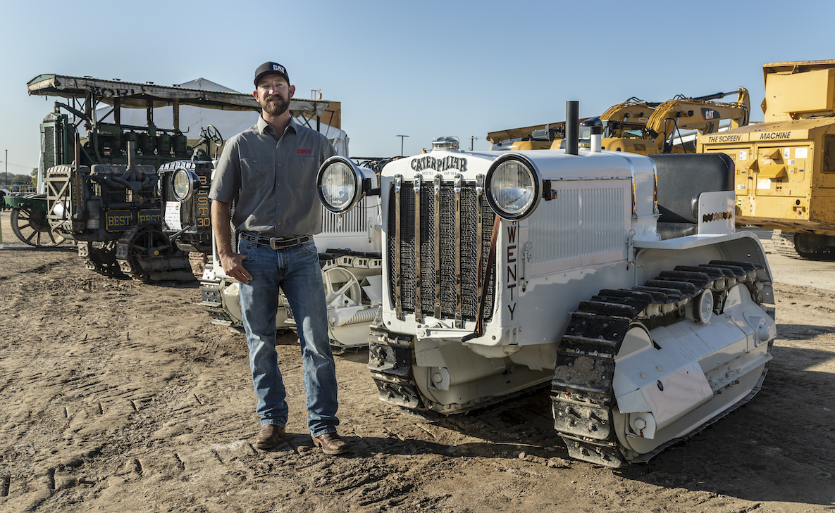 Matt Veerkamp with restored first Caterpillar Twenty tractor