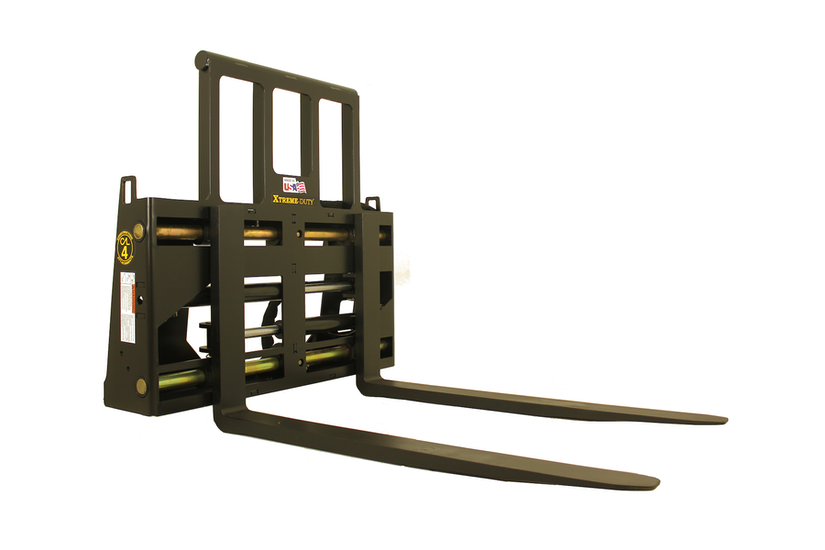 Xtreme Duty Heavy Lift Hydraulic Pallet Fork by Construction Attachments