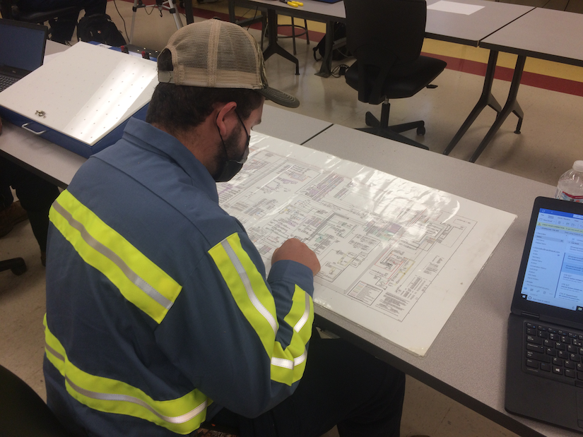 diesel tech studying at Florence-Darlington Technical Community College