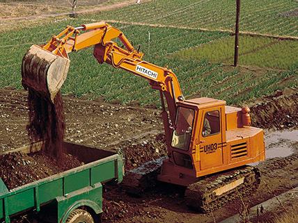 Hitachi UH03 excavator