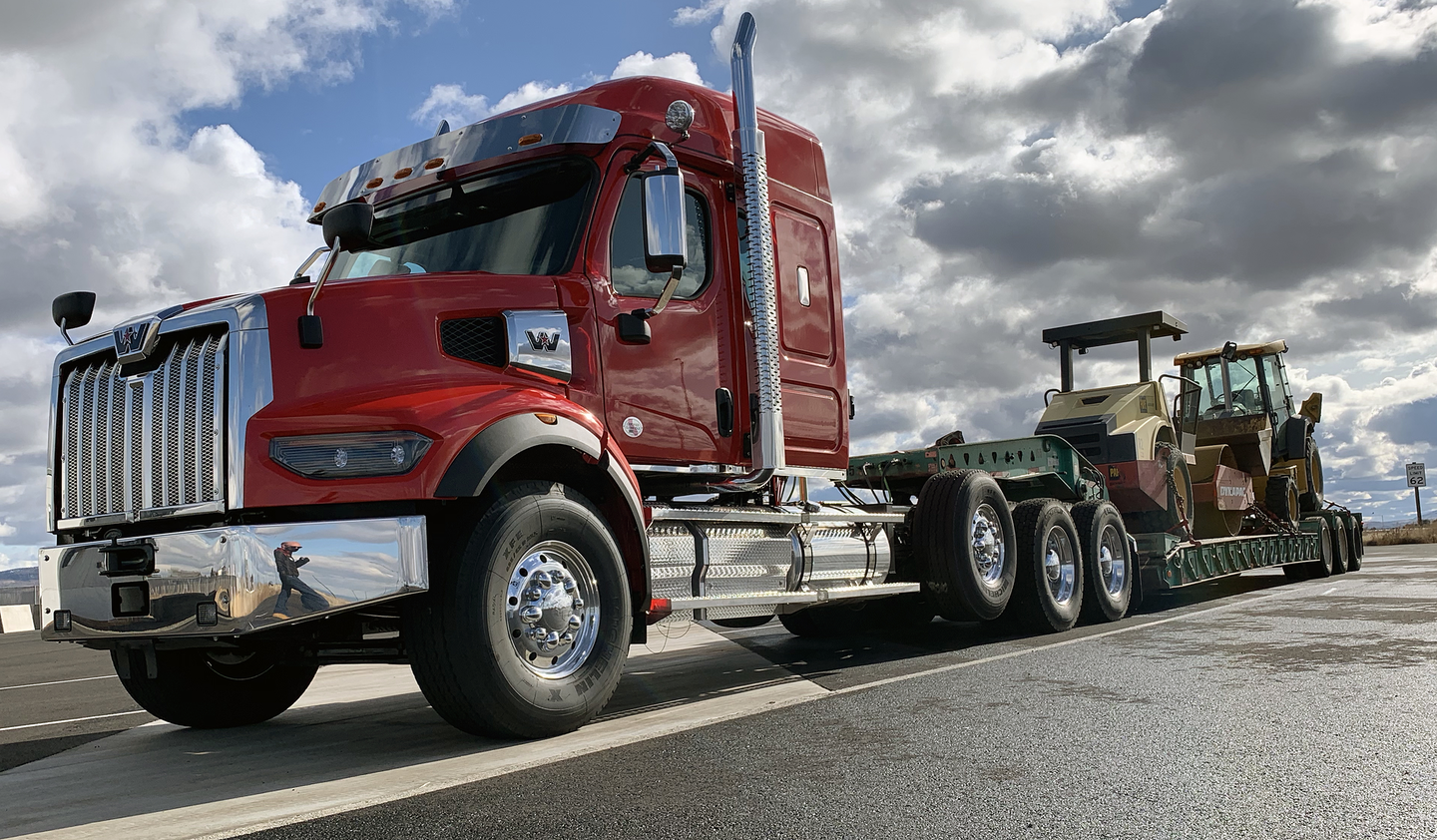 The 49X's heavy-duty vocational frame was designed for severe-service applications, but it weighs in about 350 pounds lighter than the current 4900.