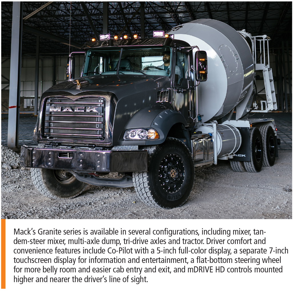 Mack's Granite truck