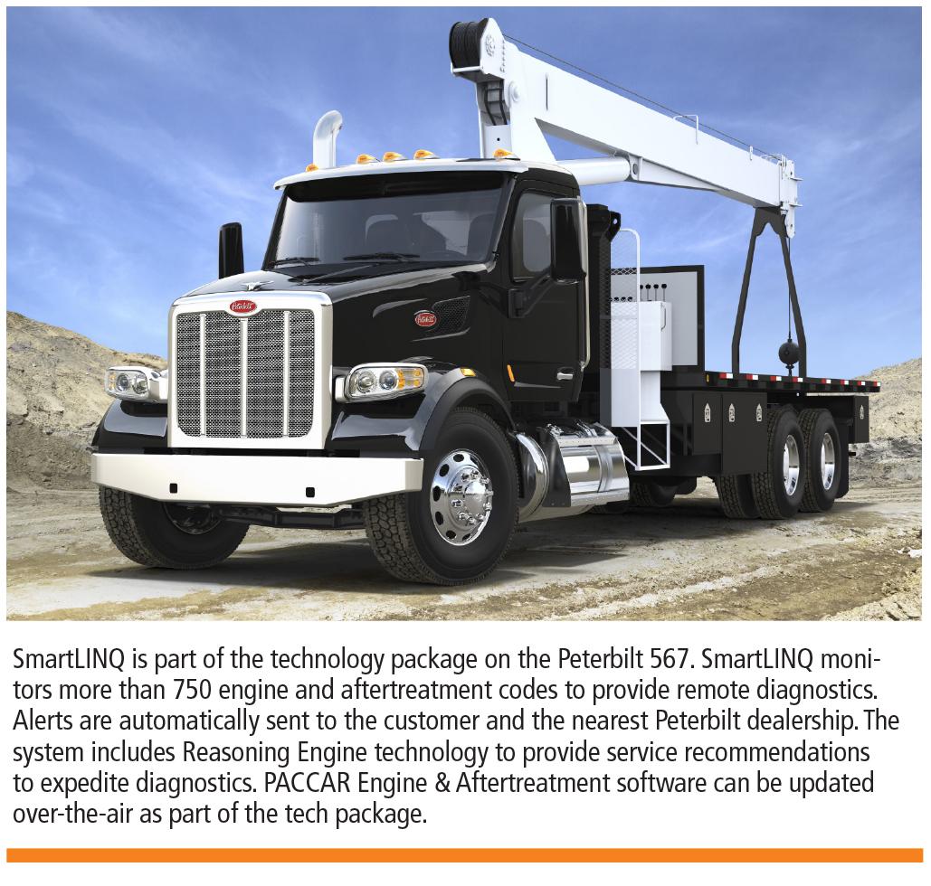 Peterbilt 567 crane truck
