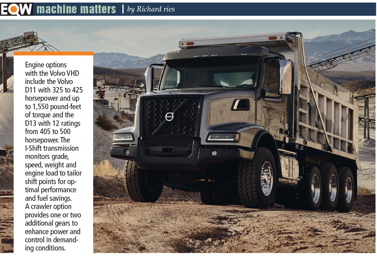 Volvo VHD dump truck