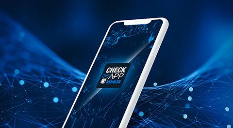 Kohler CheckApp on mobile device