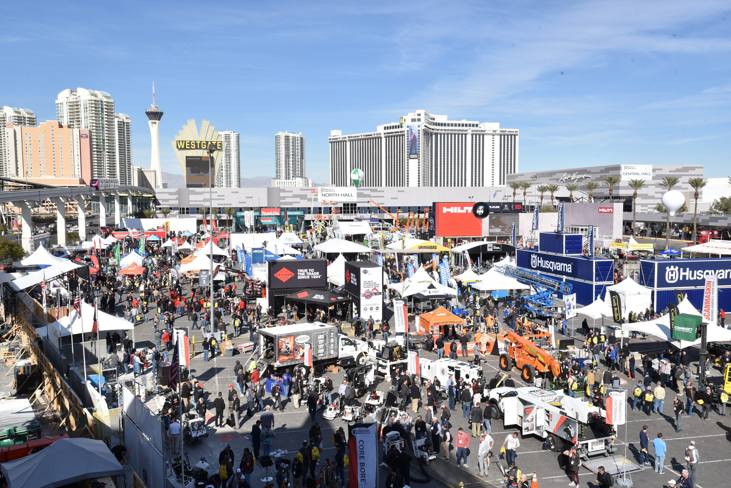Aerial view of World of Concrete 2020