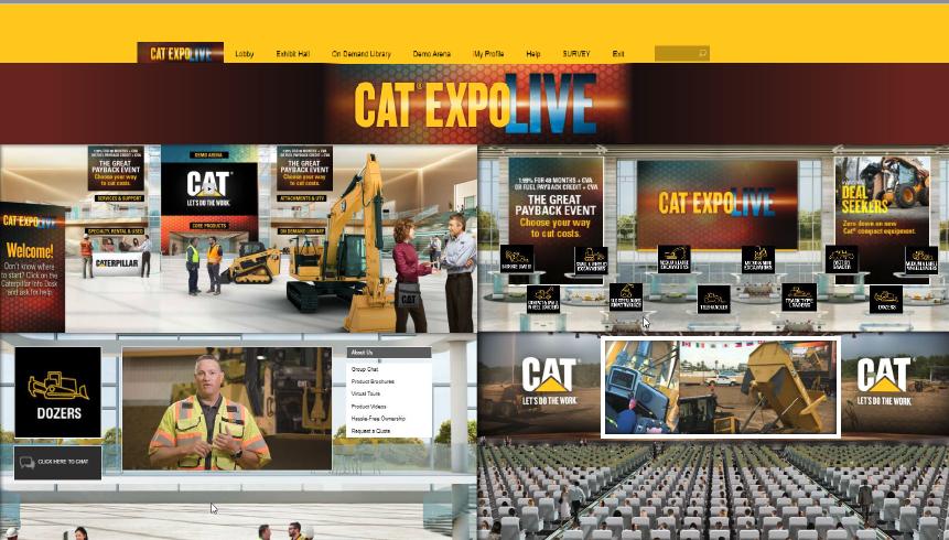 Cat Expo Live virtual trade show
