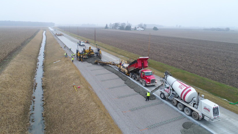 ACPA Gold award winner resurfacing Ryan Road in Allen County, Indiana