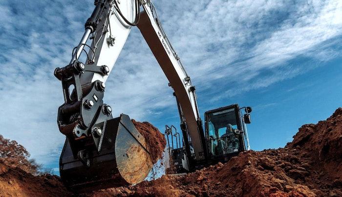 Bobcat E143 excavator at jobsite