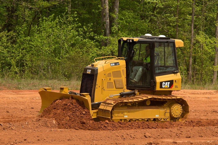 Top dozer in both new and used financed sales: the Cat D5K-2 LGP.