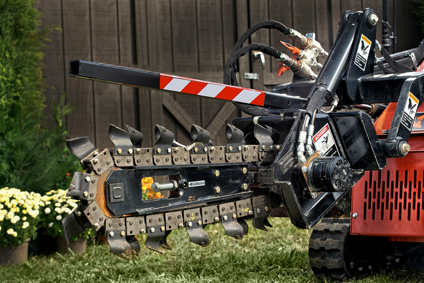 Ditch Witch Stand On Skid Steer Sk Trencher Attachment