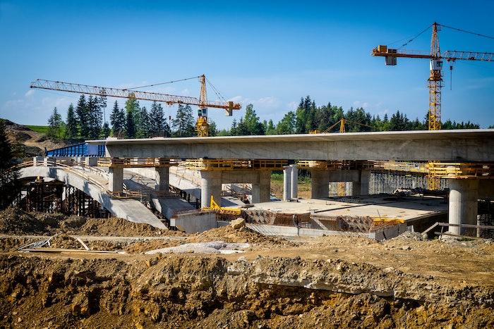 Bridge construction work