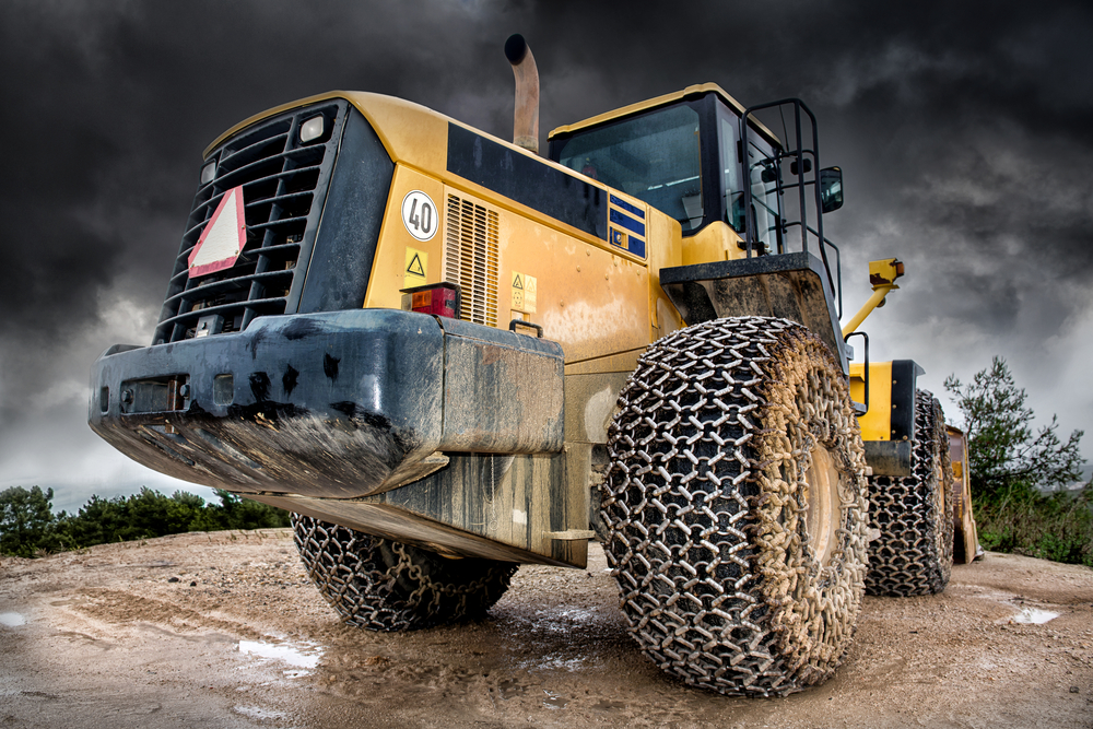 heavy equipment machine at construction site