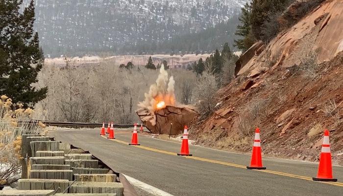 Colorado DOT boulder explosion