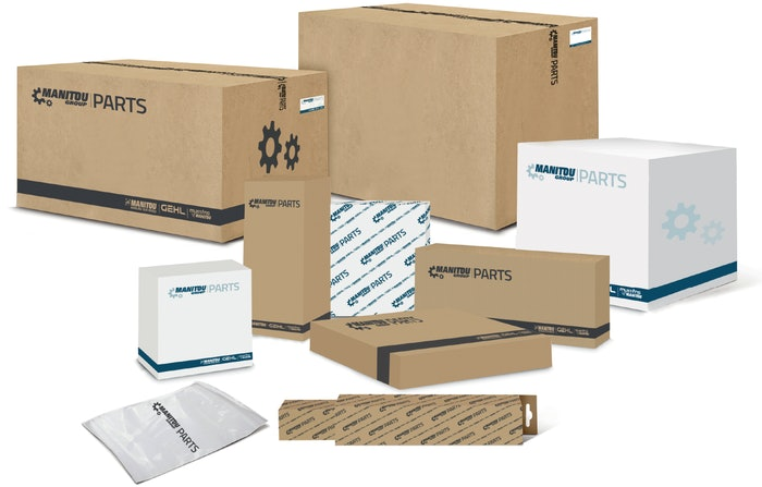 boxes and other packaging for Manitou parts