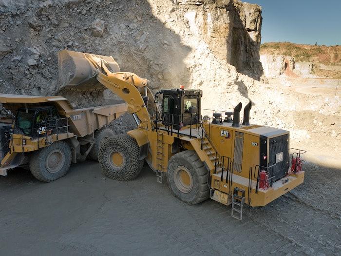 Large Caterpillar equipment on job site