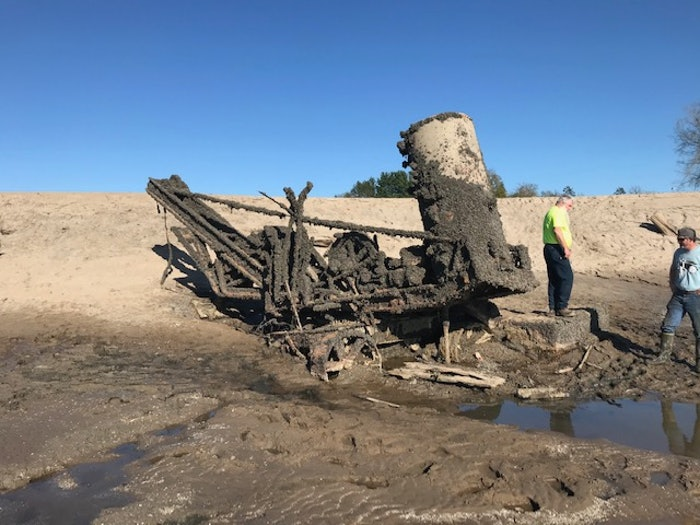 When the Edenville Dam broke in May, it revealed this long-lost steam shovel, which has since been rescued and is being restored.
