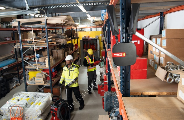 Hilti ON!Track 3.0 in warehouse