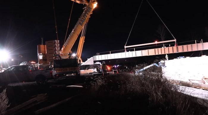 New Falls Road bridge construction