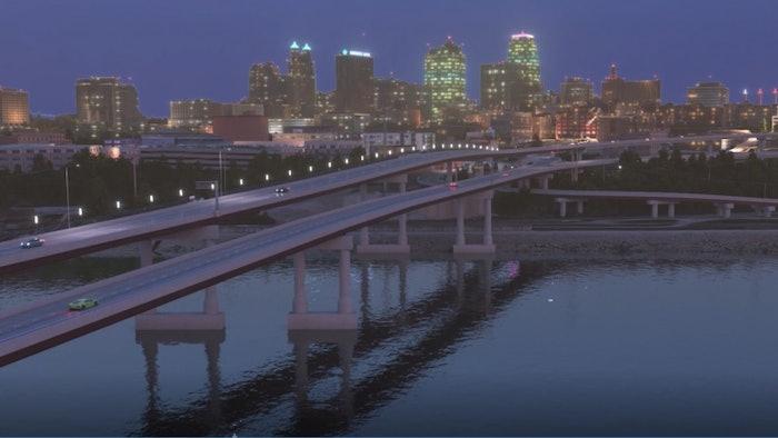 A rendering of the future Buck O'Neil Bridge in Kansas City.